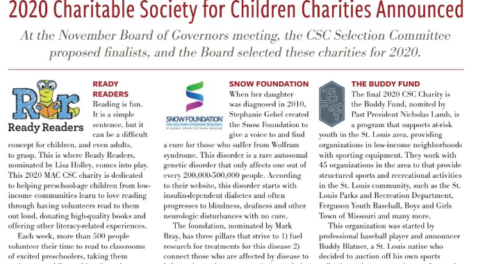 The Buddy Fund was selected by the MAC Charitable Society for Children Selection Committee for 2020!