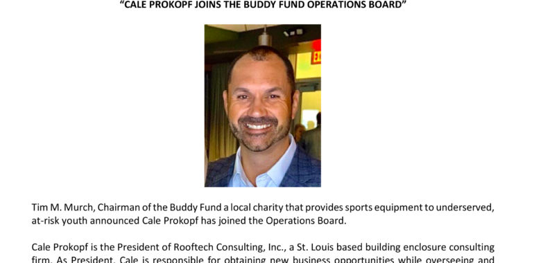 Cale Prokoph Joins The Buddy Fund Operations Board